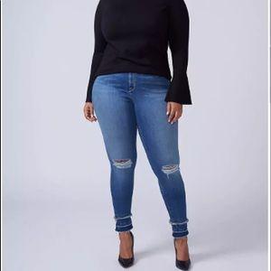 {Lane Bryant} skinny jeans released hem